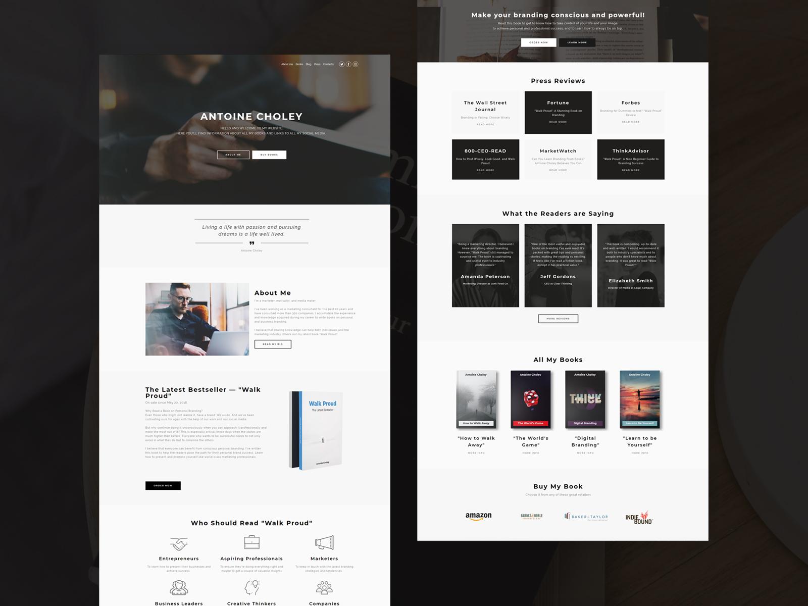 copywriter portfolio template