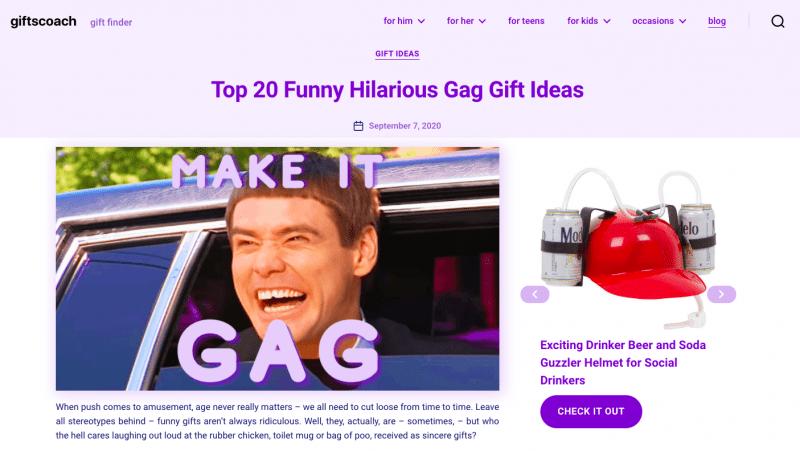 affiliate website example