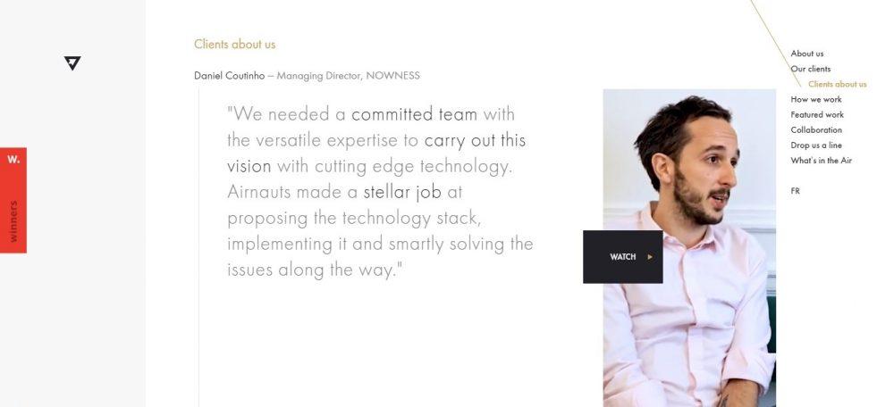 business portfolio example - weblium blog