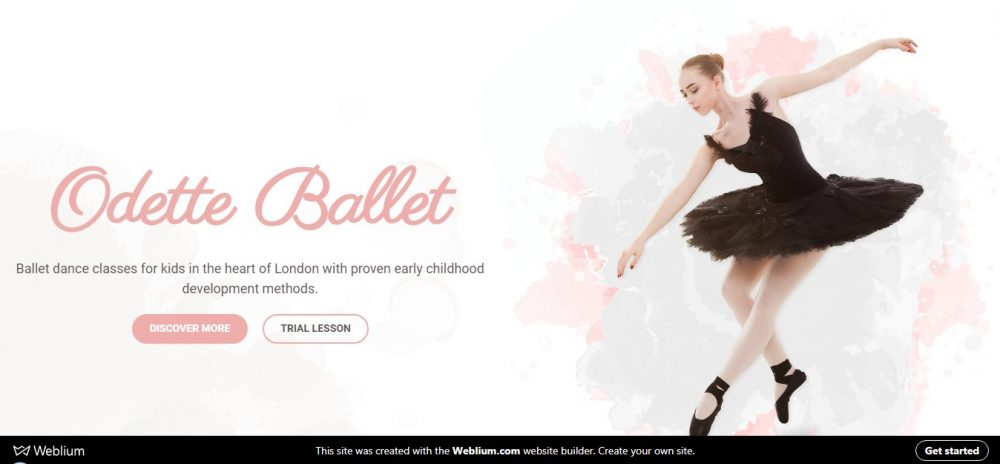 Odette Ballet studio (Weblium website template)