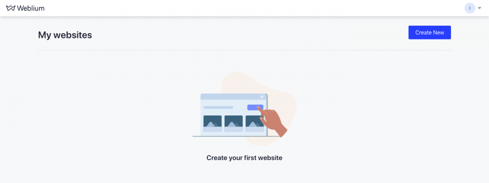 """Click on the """"Create New"""" button to open the templates."""