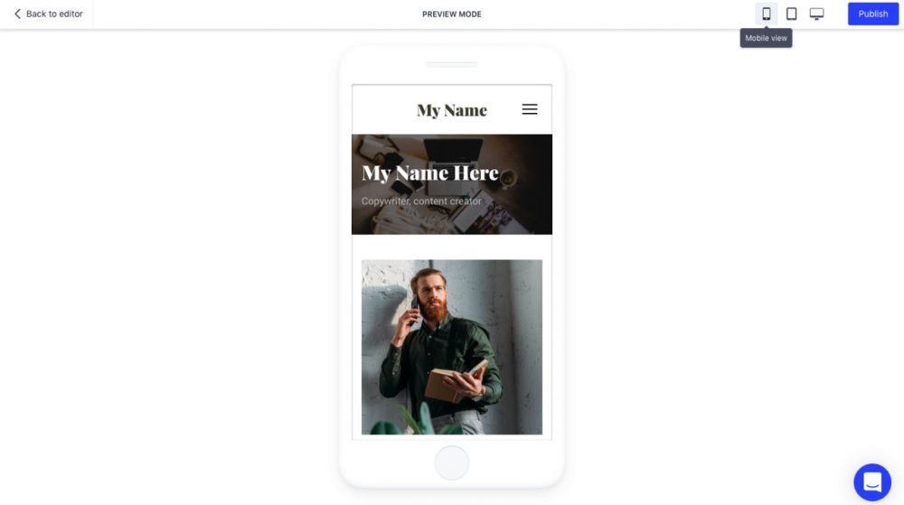 Responsive design example - weblium
