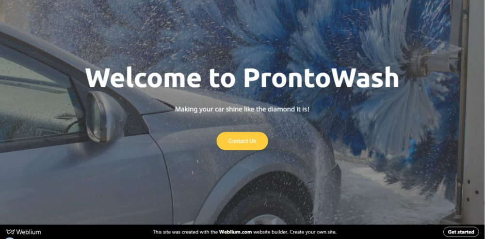ProntoWash - car wash template