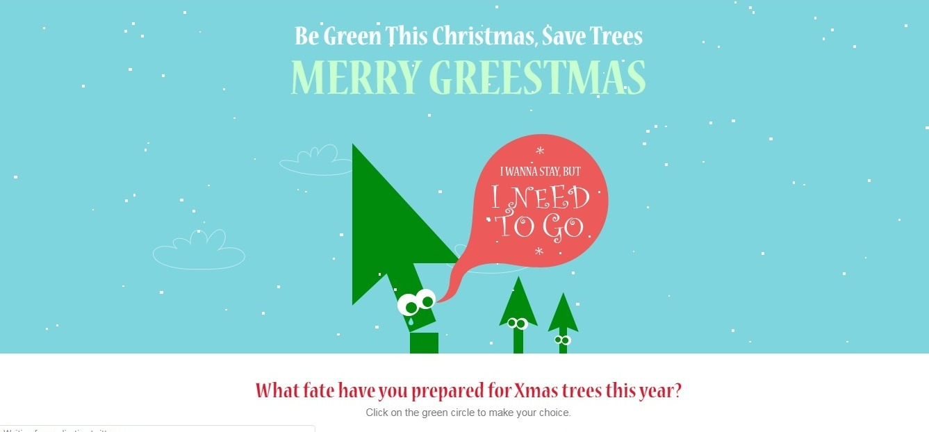 Merry Greestmas (blue winter background website example)