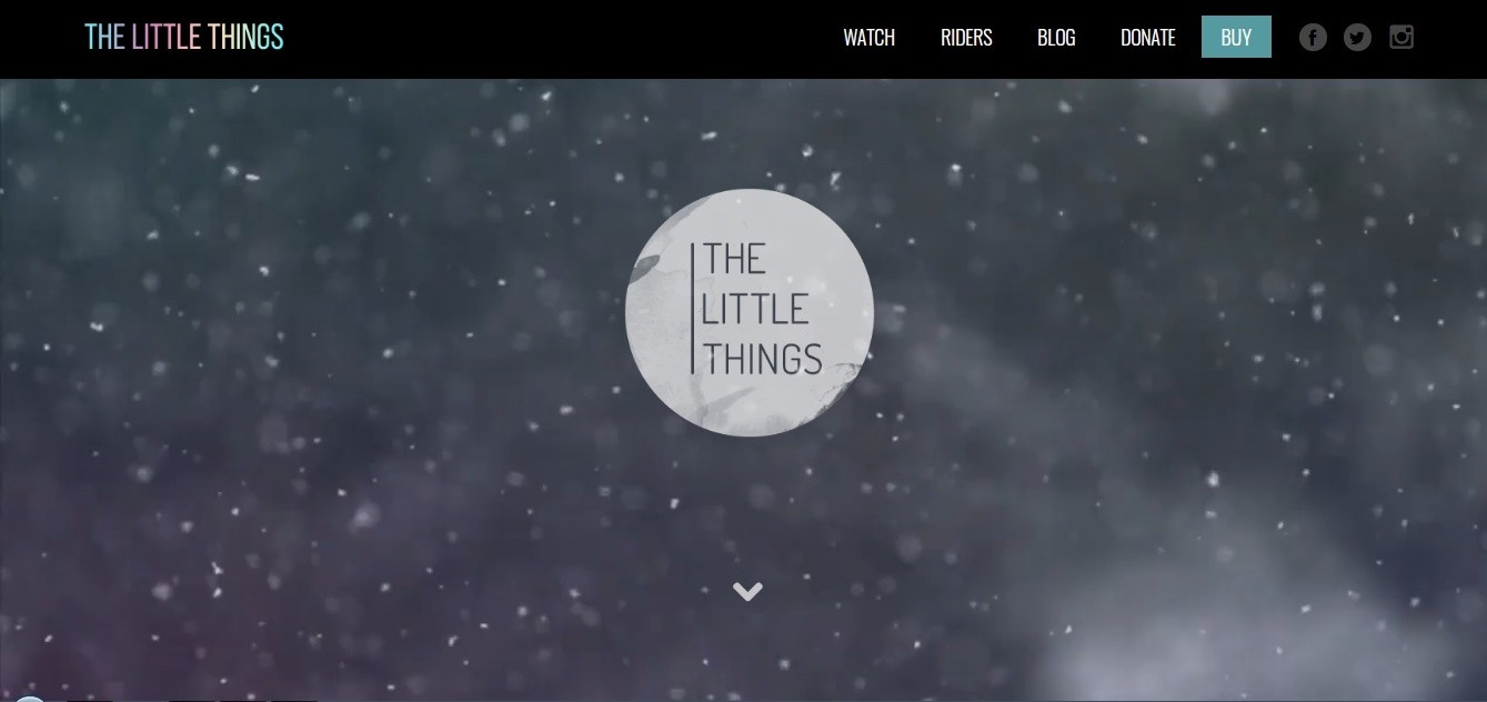 The Little Things (watercolor winter background website example)