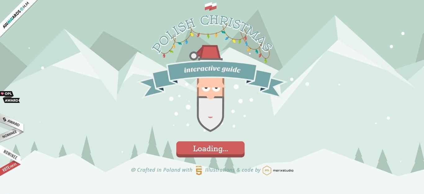. Polish Christmas guide - winter background - weblium