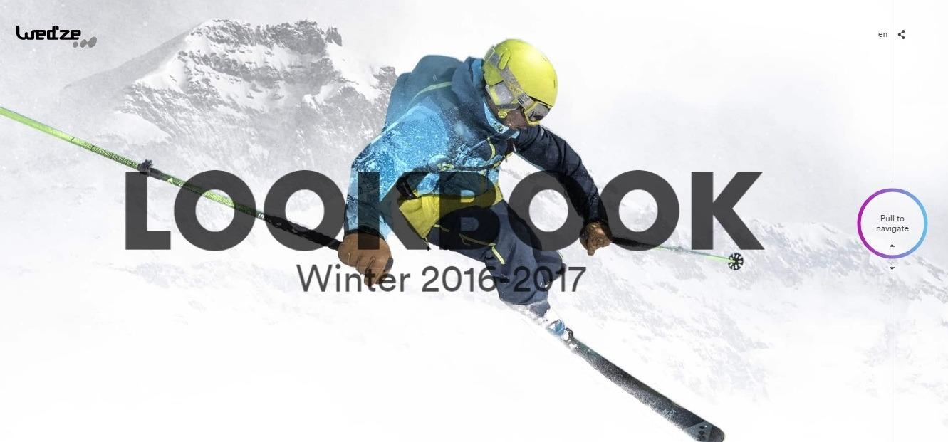 Wed'ze lookbook winter background examples