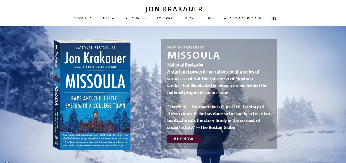 Jon Krakauer winter background