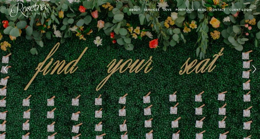 Wedding Planner Website – Patterns & Emotions