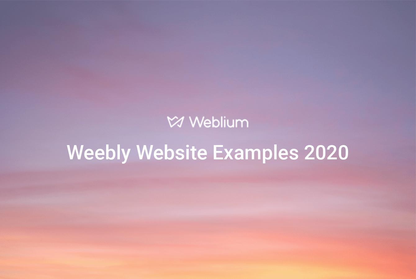 weebly website examples - weblium
