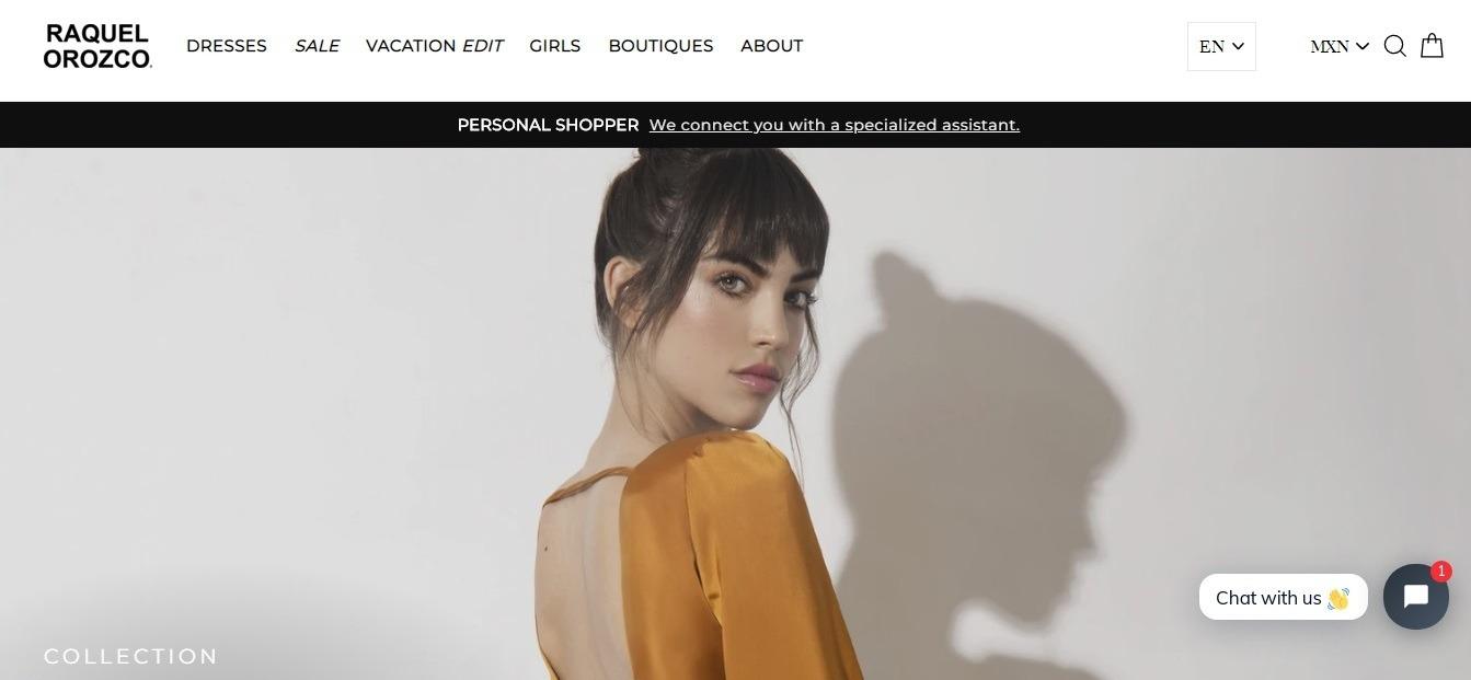 Raquel Orozco Weebly online boutique website example