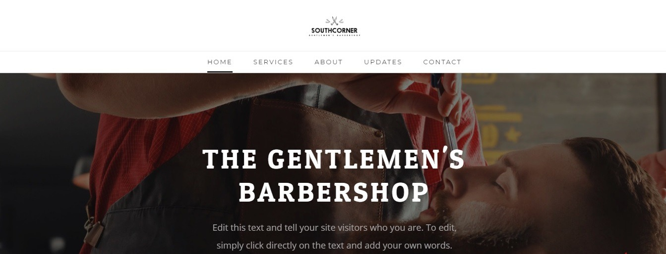Weebly barbershop website template