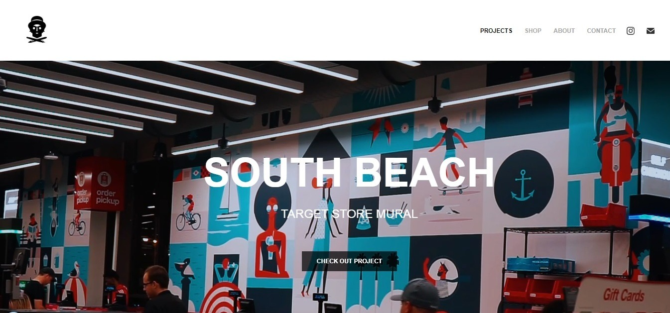 Kikoplastic Weebly graphic designer portfolio website example