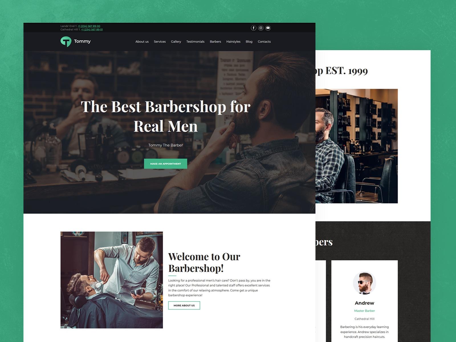 Weblium barbershop website template