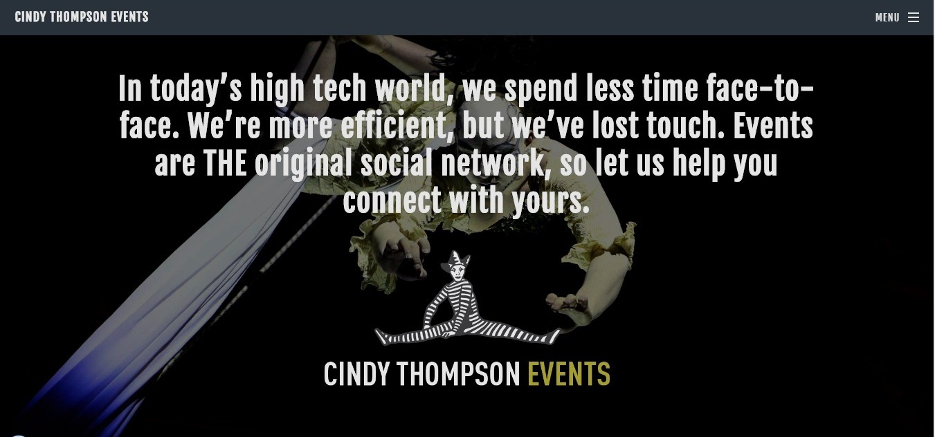 Cindy Thompson events Weebly event producer website example