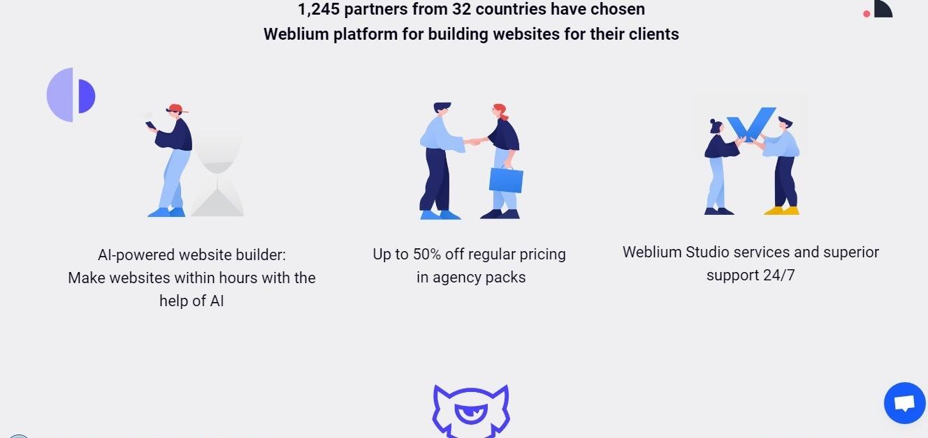 What Weblium White Label Agency program offers:
