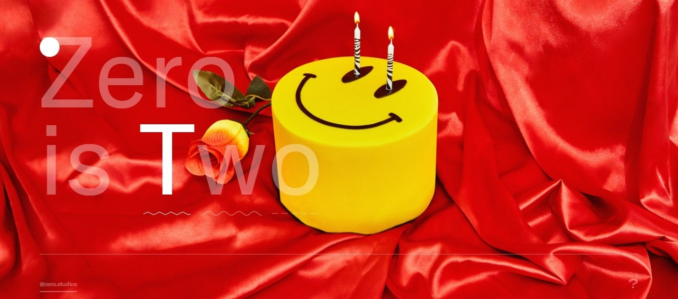 Zero studios: birthday background website example