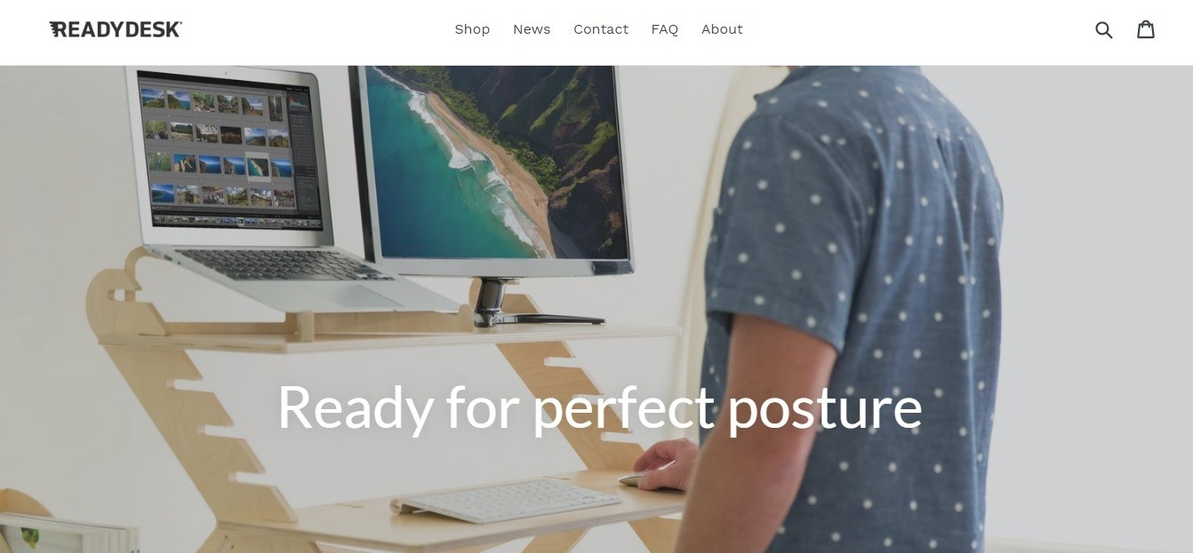 Ready desk Weebly furniture shop website example