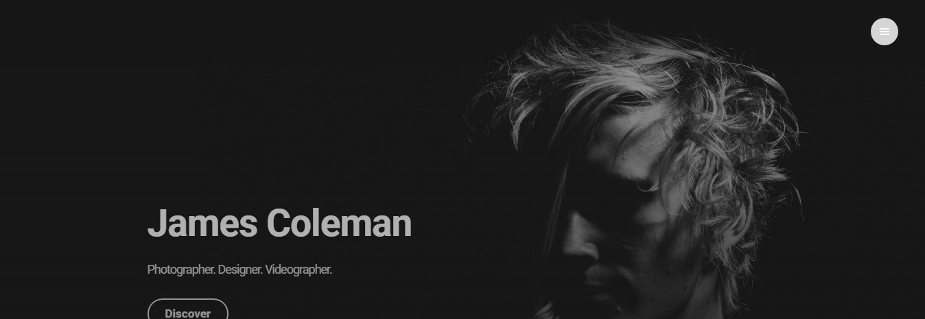 Weebly videographer website template