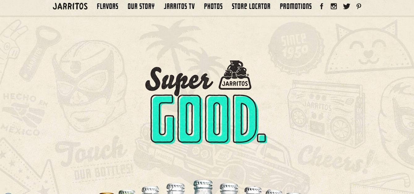 Jarritos: white texture background website example