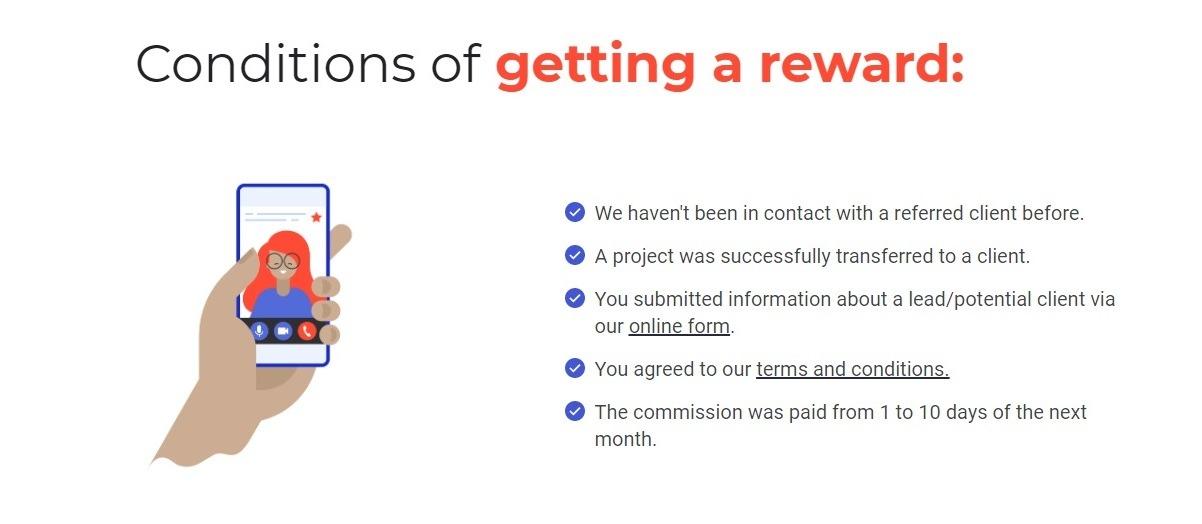 What Weblium Studio partnership program offers: