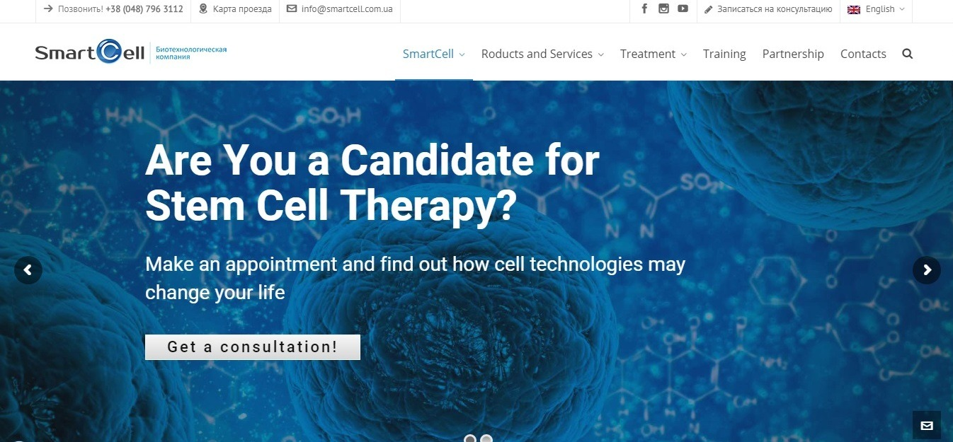 SmartCell: medical background website example