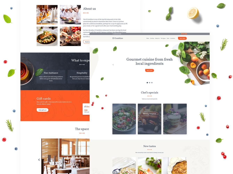 Weblium restaurant website template