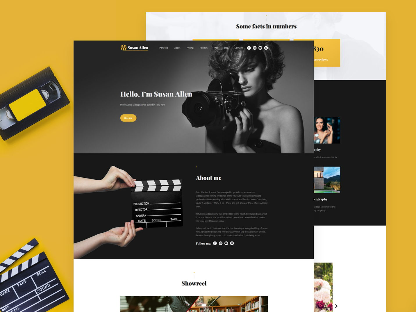 Weblium videographer website template