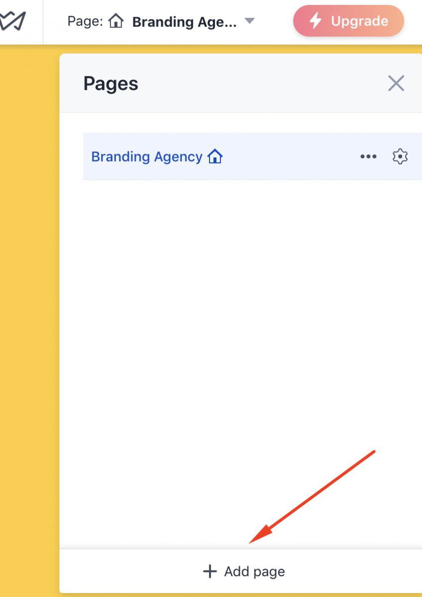 create new pages