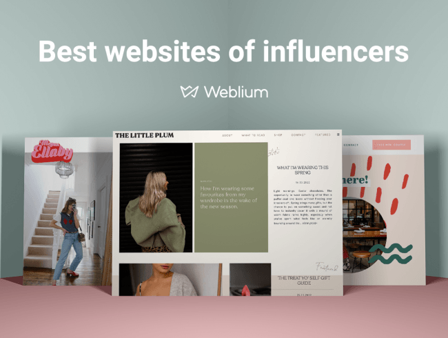 Top 8 Personal Websites of Influencers