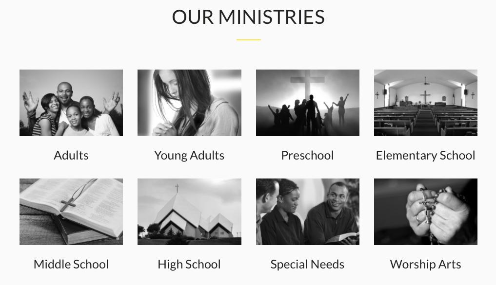 church website templates: