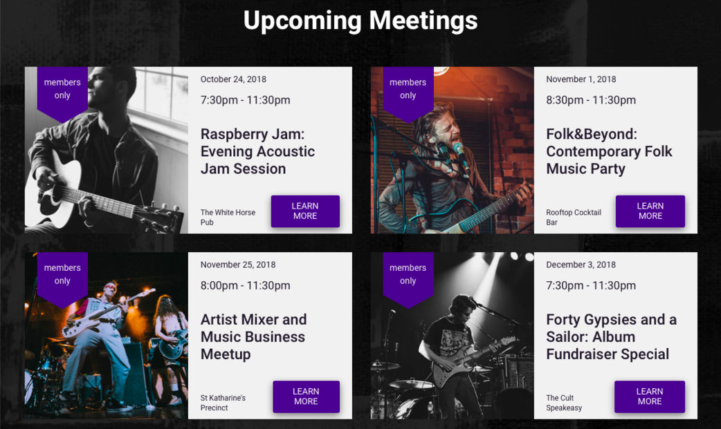 Meetup Website Template