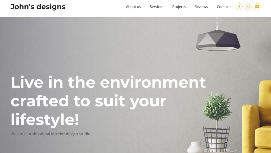 Swish Interior Website Template
