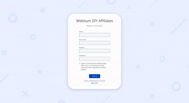 first promoter weblium affiliate program