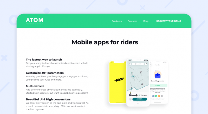 ATOM mobility apps