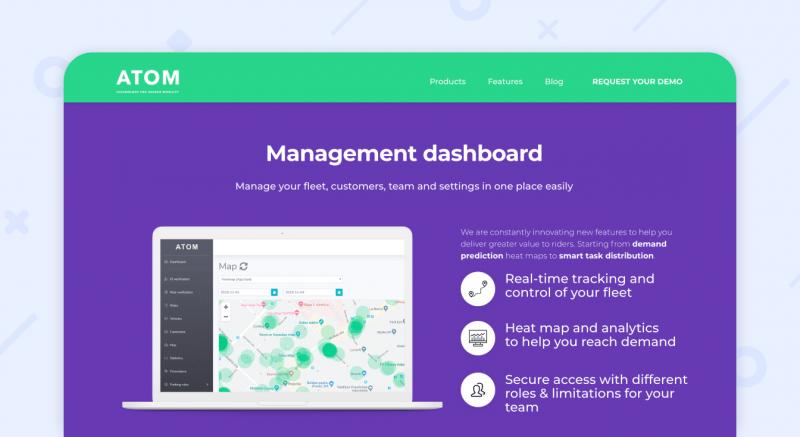 ATOM mobility management dashboard