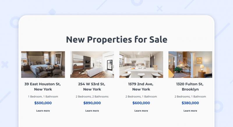 real estate agent web portfolio