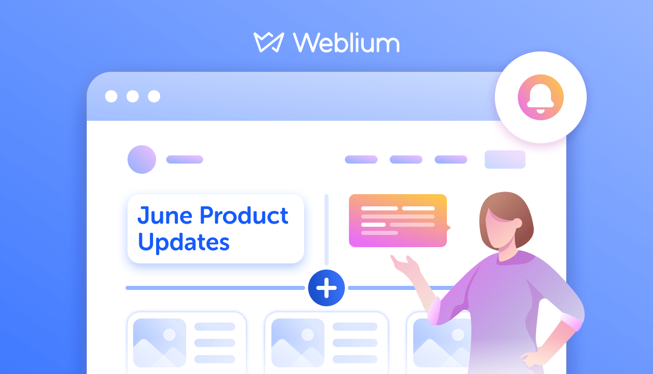 Weblium June Product Updates: Pop-Ups, Site Stats, Cookie Banner, and more!