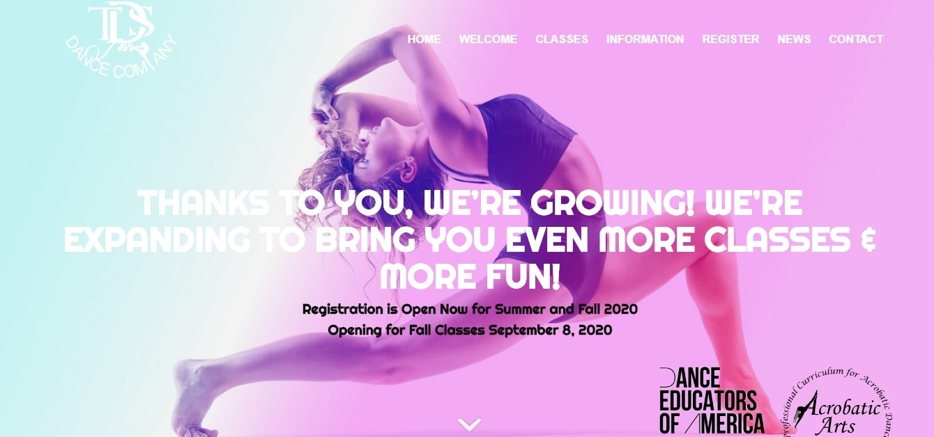 TDS dance studio site