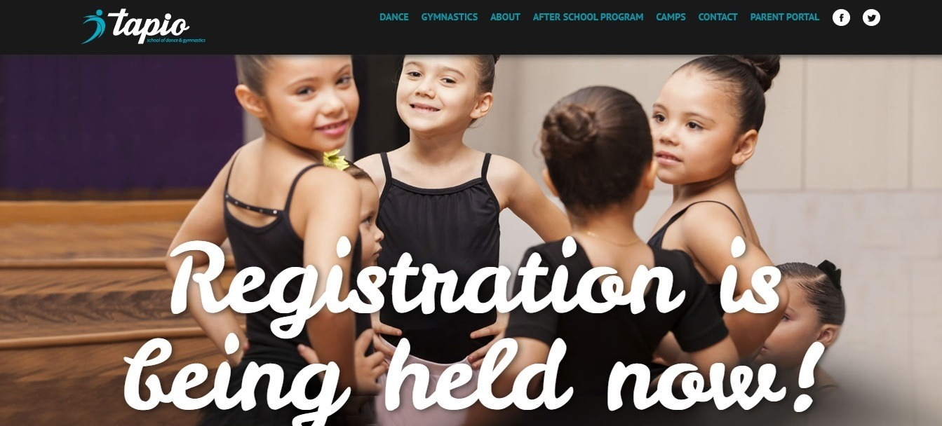 Tapio dance studio website