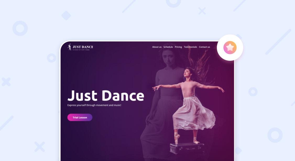 dance studio websites - weblium
