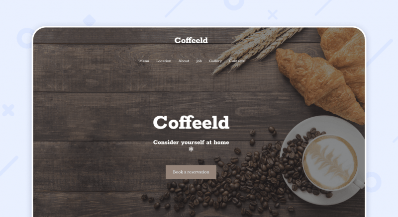 Cafe Website Template