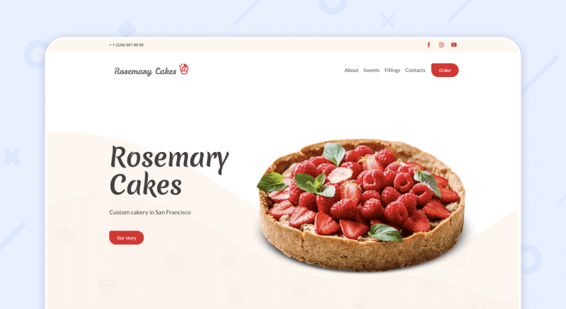 Cakery Website Template