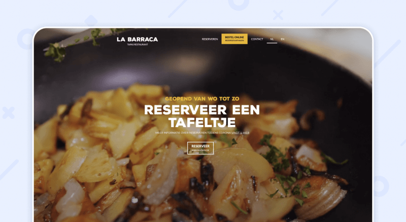La Barraca website restaurant