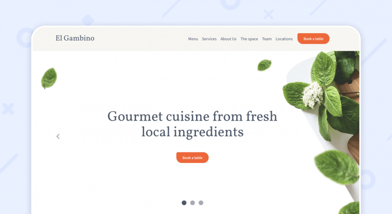Website Restaurant Weblium Template
