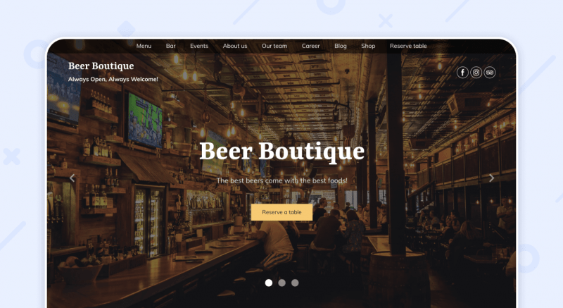 Beer Pub Website Template