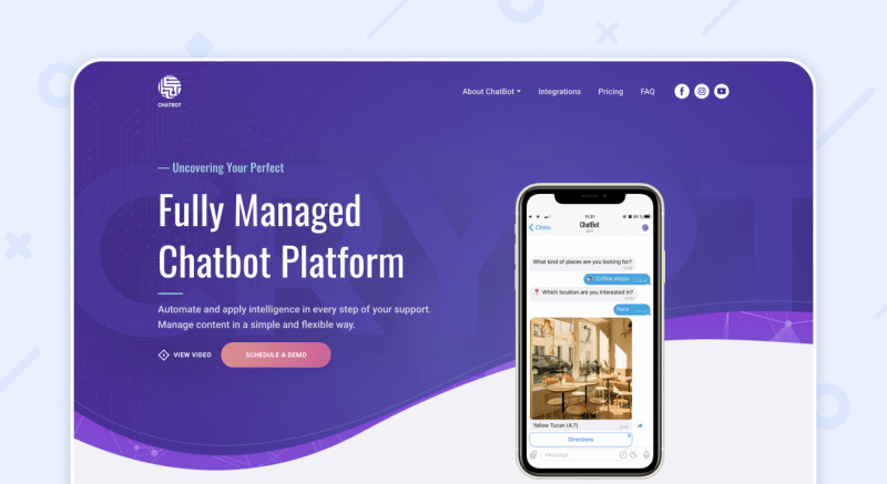 Chatbot Website Example
