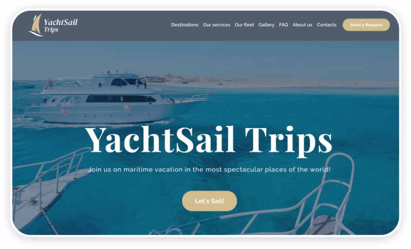 Yacht Charter Template