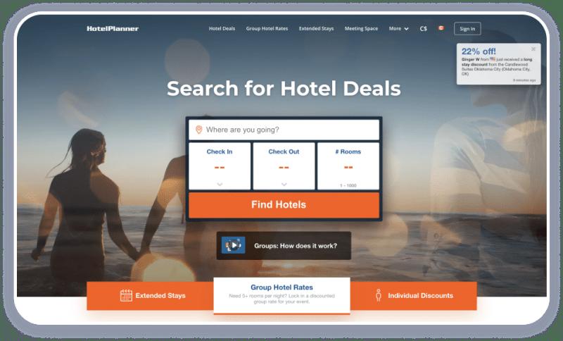 Tourism Websites HotelPlanner