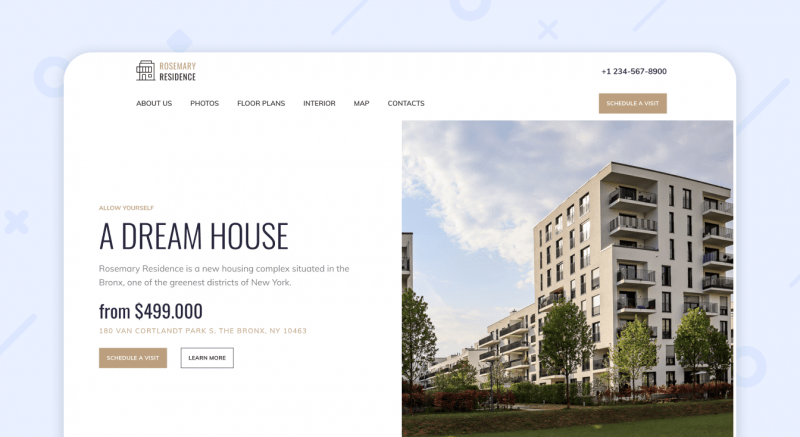 Residential Complex Website Example